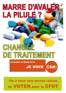 Affiche Election Marre d'avaler la pilule