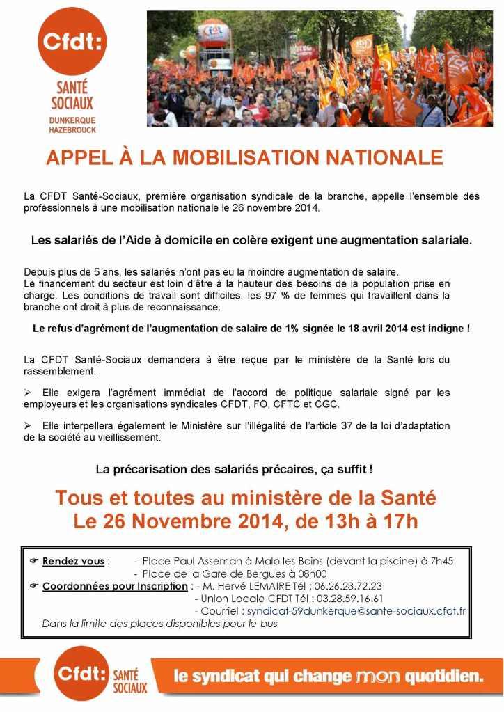 Tract BMAD pour la Manifestation du 26 Novembre 2014 pour le bus