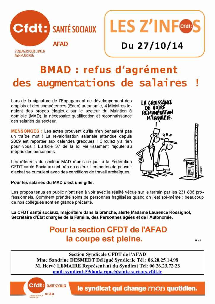Tract Section AFAD CFDT - le 27 Octobre 2014