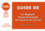 Guide de La Rupture conventionnelle