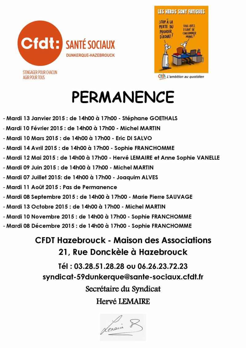 Affiche Permanence - Hazebrouck 2015