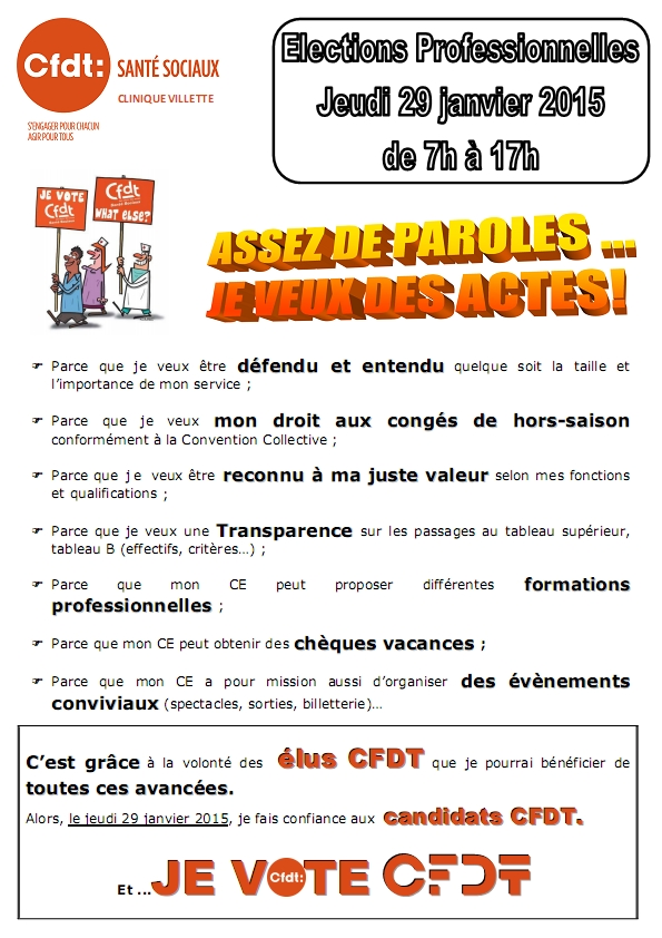 Election Tract n°1 p1