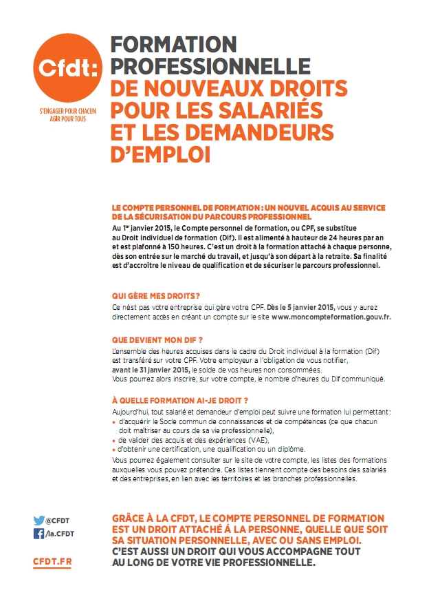 tract formation professionnelle