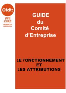 Guide du CE le fonctionnement et les attributions