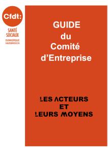 Guide du CE les acteurs et leus moyens
