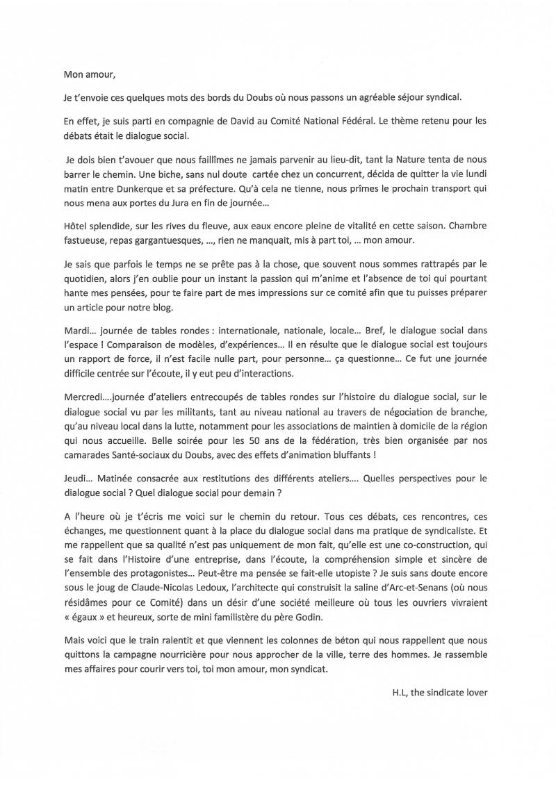 Courrier CNF du 16 au 18 Juin 2015