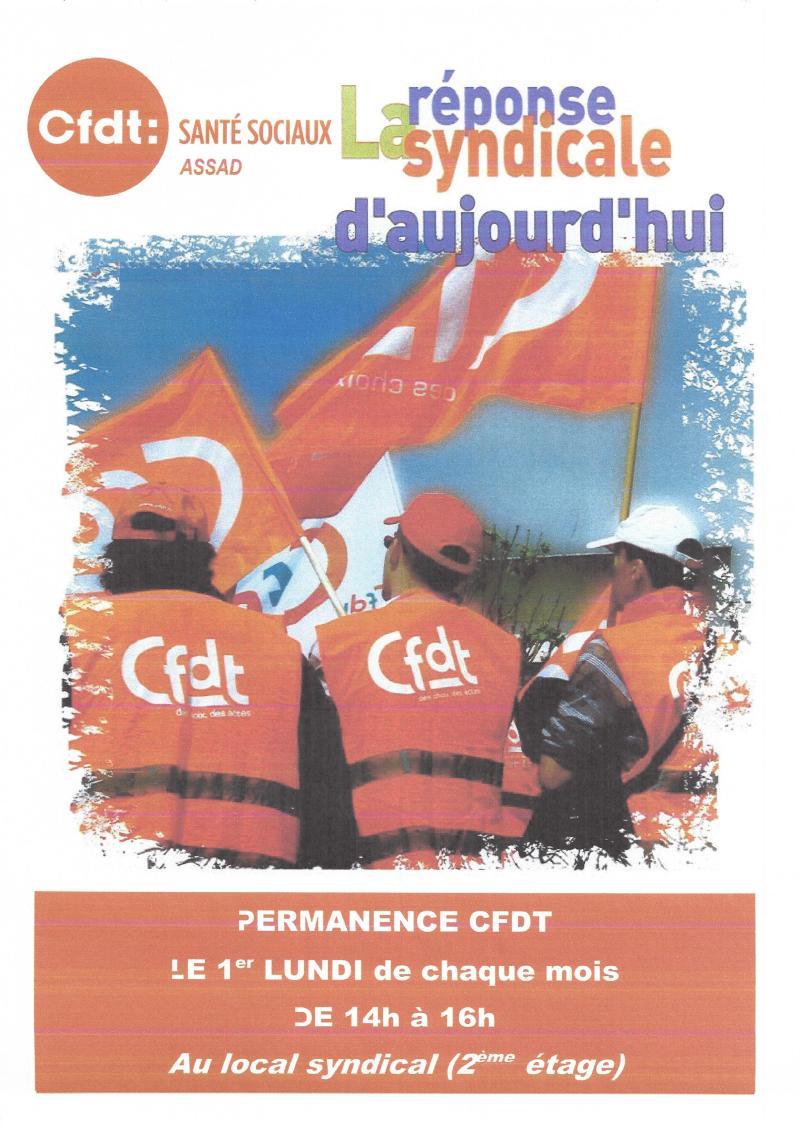 pour la permanence CFDT - ASSAD0001