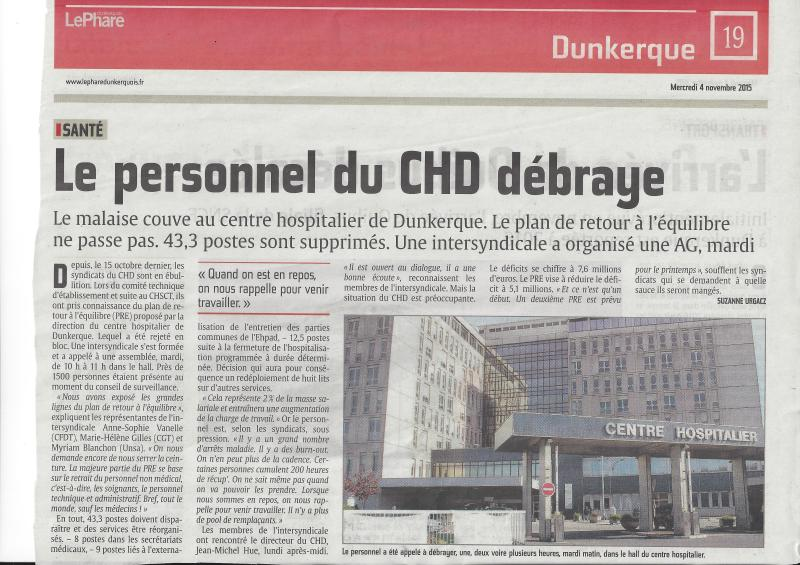 Article du journal le Phare de Dunkerque