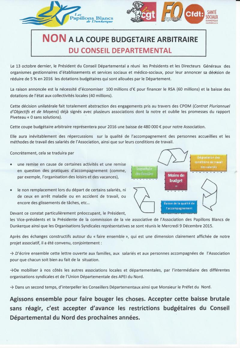 Tract Papillons Blancs Dunkerque