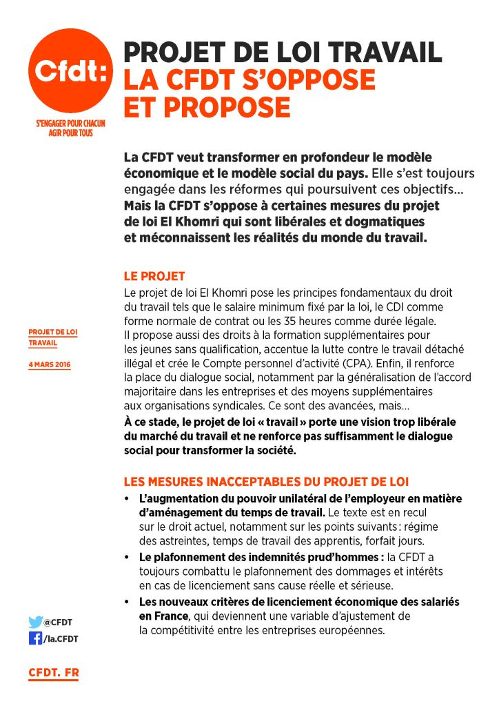 N° 22 - Rassemblements du 12 mars 2016 - Tract La CFDTs'oppose et propose_Page_1